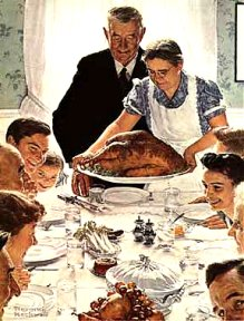 This Norman Rockwell picture is heartwarming, but holidays with depressed family can be hard.