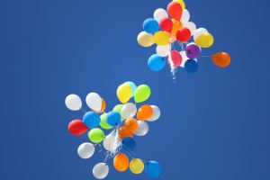 Ketamine boost infusions bring back the joy like these colorful balloons floating in the sky.