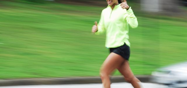 This lady is jogging and knows that exercise reduces future depression.