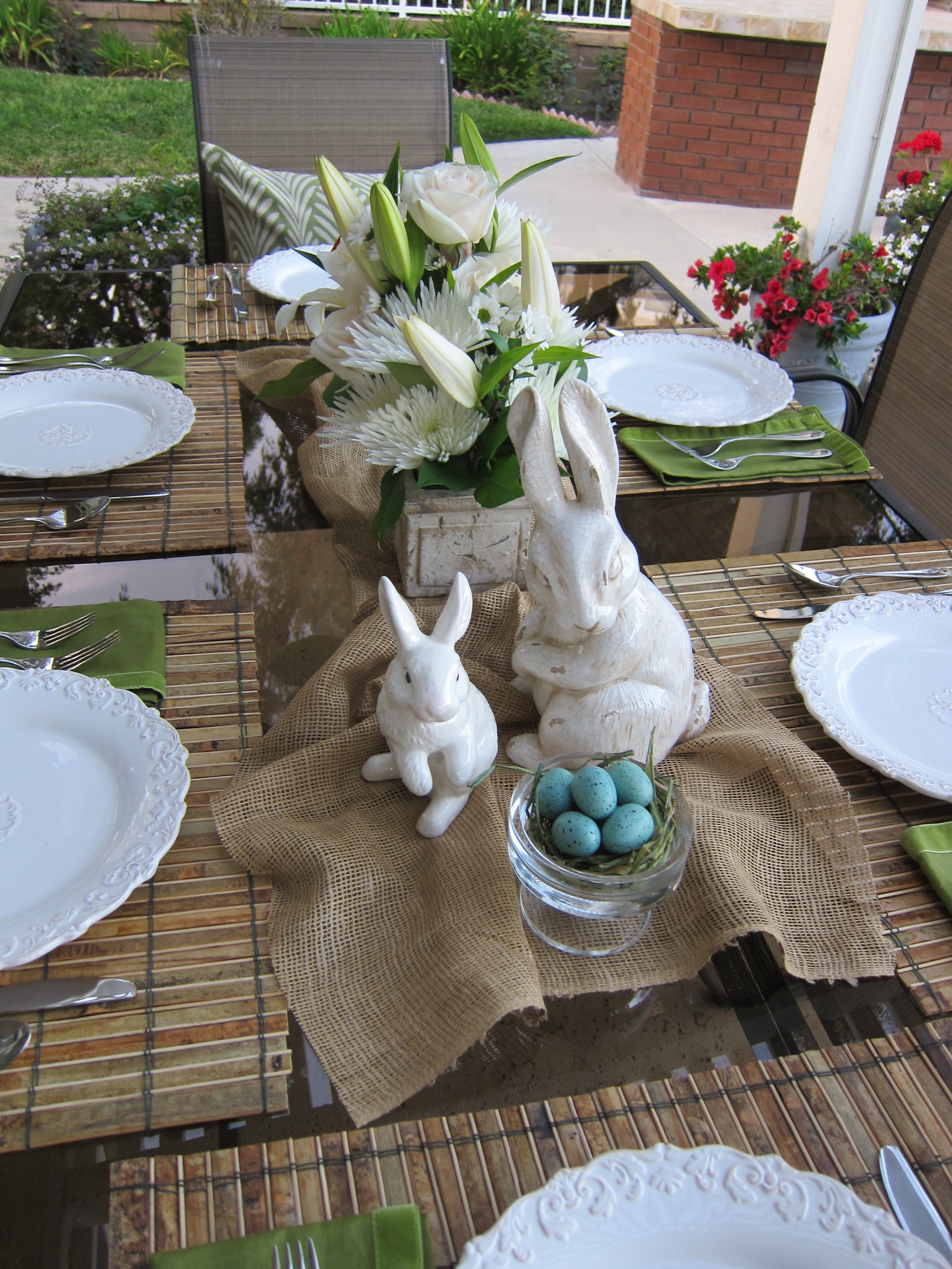 Easter tablescapes  Loris favorite things
