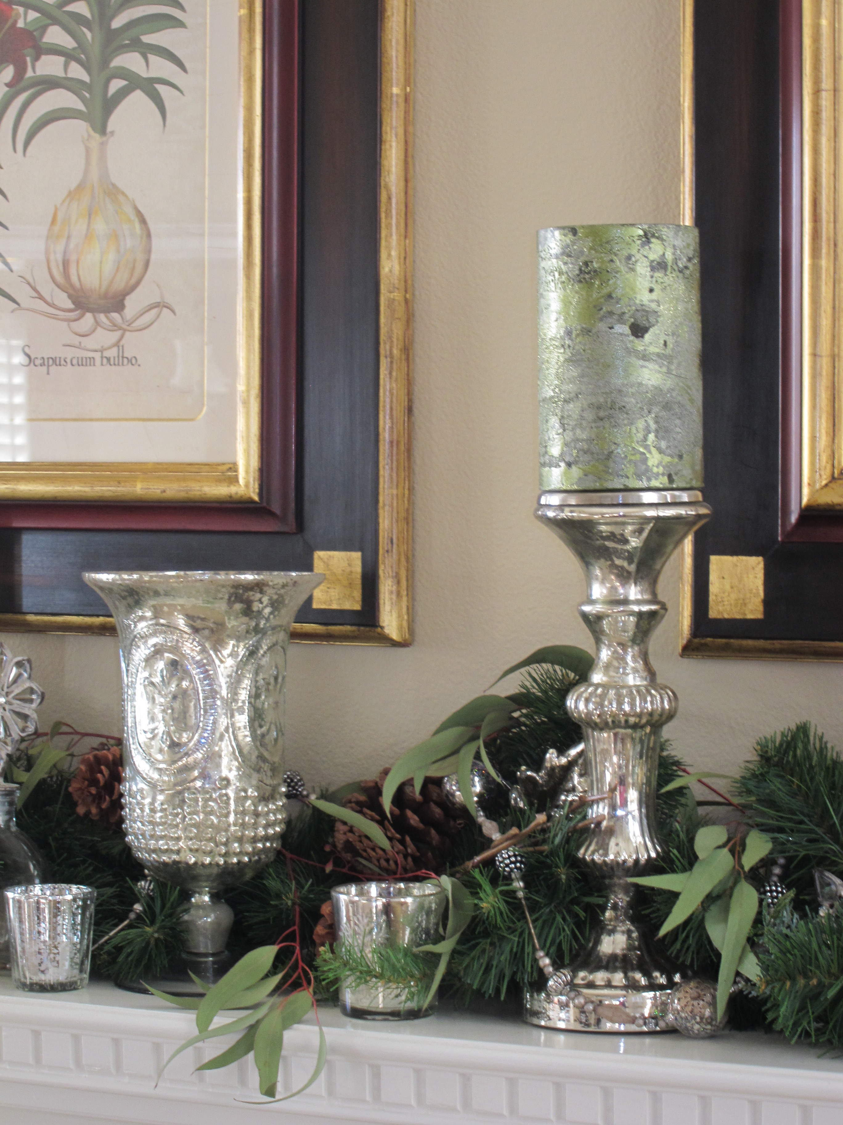 Holiday Decorating with Mercury Glass  Loris favorite things
