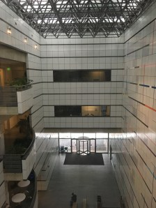 the atrium of E-15