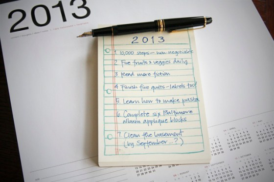 Goals for 2013
