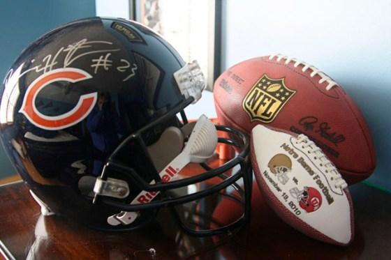 Football Helmet, NFL football, Notre Dame, Chicago Bears, Devin Hester