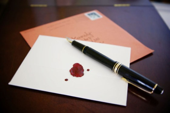 The Art of Saying Thank-You, Letters, Personal letters, Hand-written letters, Mont Blanc, Fountain Pen, sealing wax