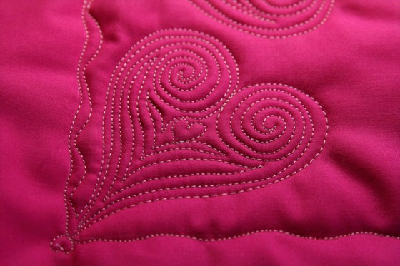 Free Motion Quilting-Heart