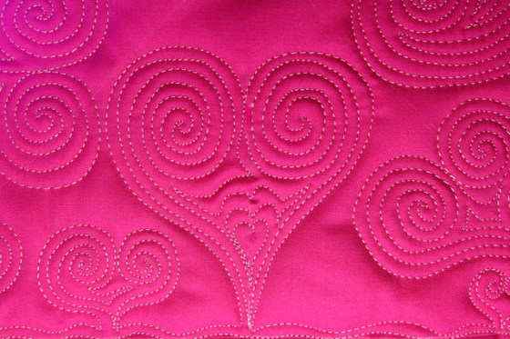 Free Motion Quilted Heart, Giveaway