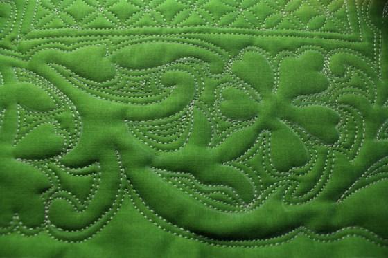 Bernina, Free motion quilting, shamrock, geranium, stencil