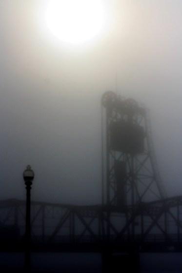 Stillwater Bridge, Dense Fog
