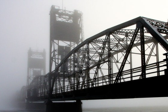 Stillwater Bridge, Dense Fog