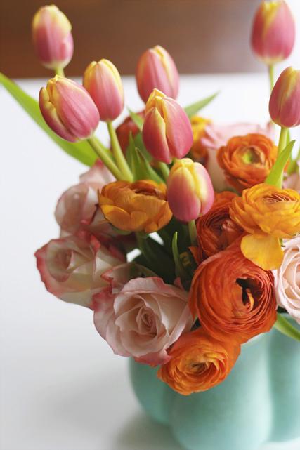 Tulips, Roses, Ranunculus