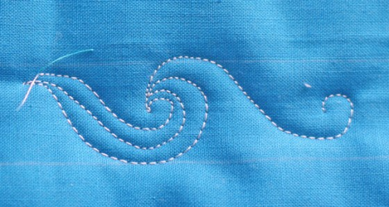 The Wave, Free Motion Quilting Tutorial, Long Arm Quilting Motif