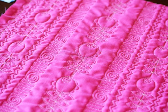 Free Motion Quilting, Design Tips, Pink Tulips, Quilting
