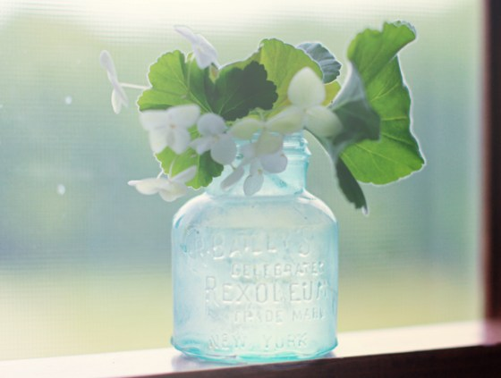 Simple Bouquet, Geranium, Hydrangea