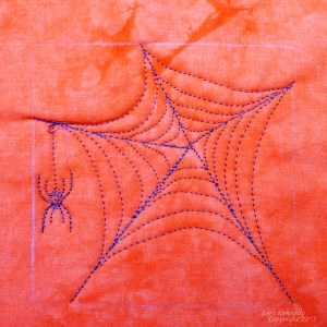 Free Motion Quilting Tutorial, The Spiderweb