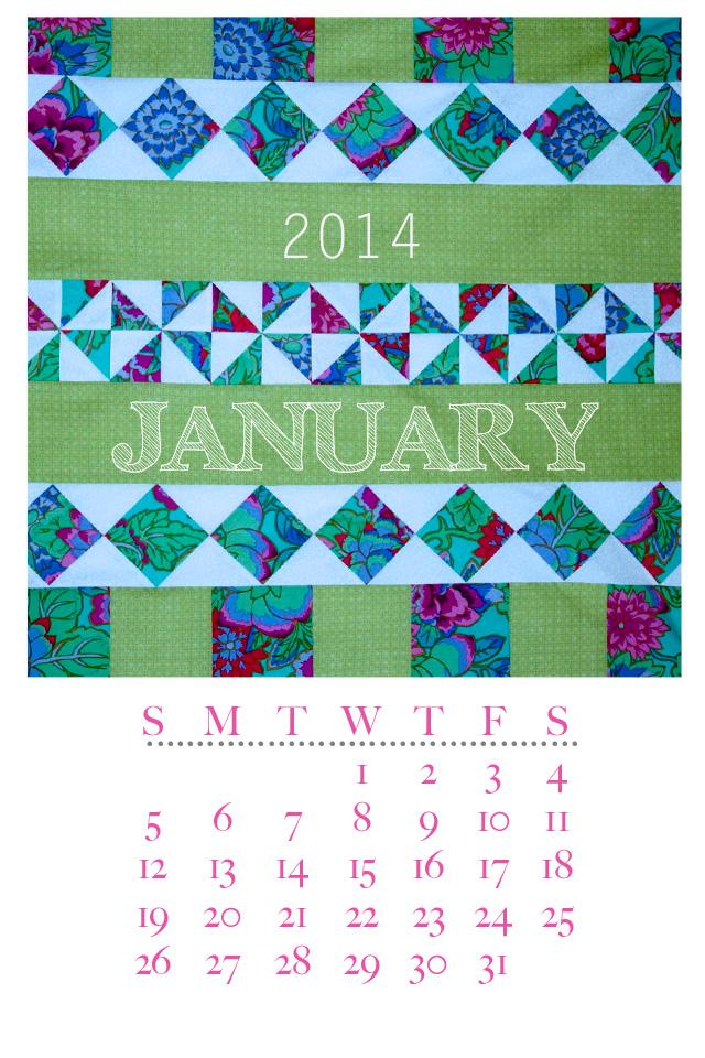 Jaunuary 2014 Quilt Calendar