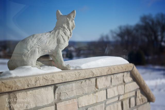 Concrete Fox Garden Statue