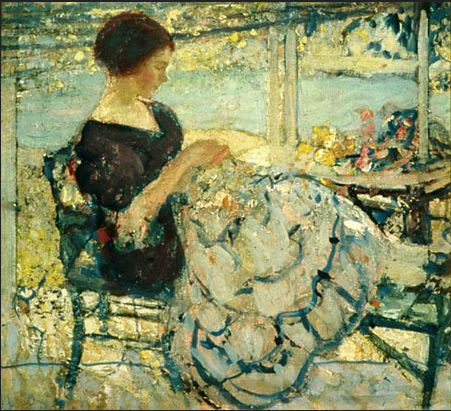 Woman Sewing, Richard Emil Miller