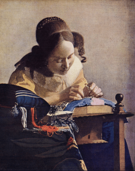 The Lacemaker, Vermeer