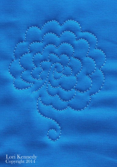 Free Motion Quilted Flowers