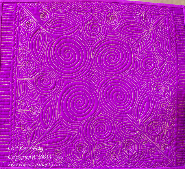 Free Motion Quilting, Spiral Flowers