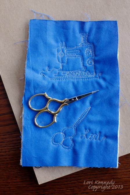 Free Motion Quilting, Scissors