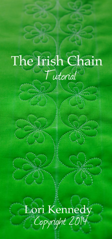 The Irish Chain, Free Motion Quilt Tutorial