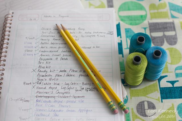 Quilt Notebook, Aurifil Thread