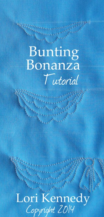 Bunting Bonanza-Free Motion Quilt Tutorial