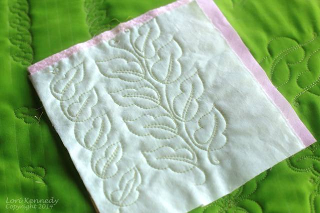 The Maypop Leaf Free Motion Quilted Design