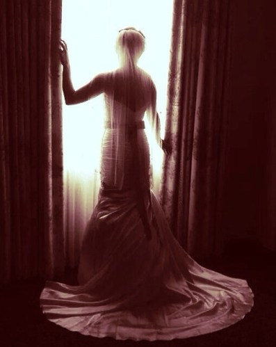 Bride at the Window, silhouette