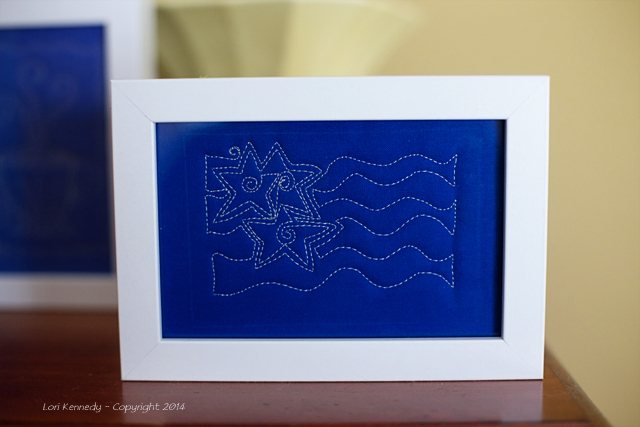 Framed Free Motion Quilting