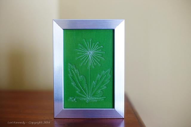Framed Free Motion Art Quilt