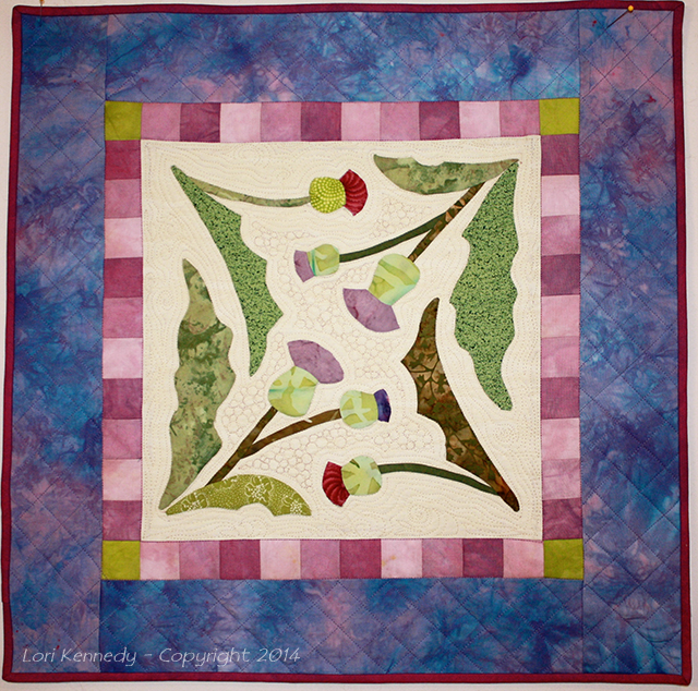 Thistle Quilt, Applique, Free Motion Quilting