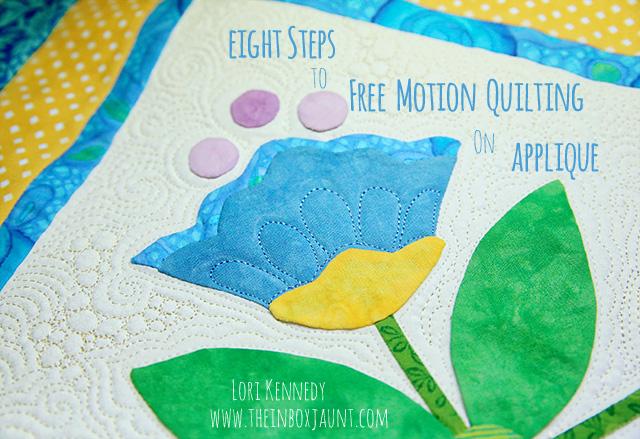 free motion quilting, appliqué