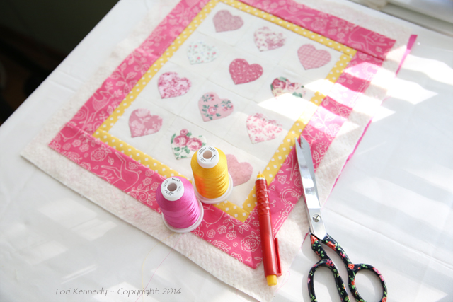 Sulky Thread, Heart Quilt