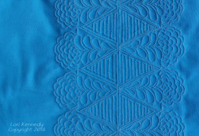 The Pretty Posy, Free Motion Quilt tutorial