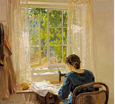 Hans Heysen, Sewing