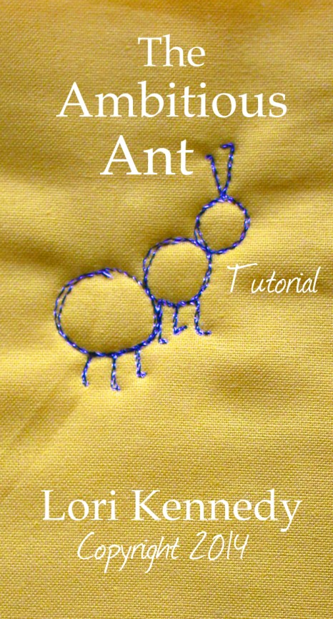 Free motion quilted ant