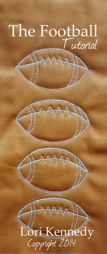 Free Motion Quilted Football