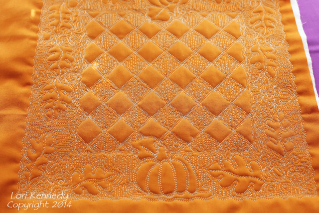 Free Motion Quilting, Pumpkin, Acorn, Oak Leaf