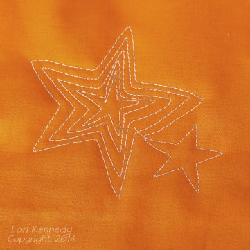 Echo Stars, Free Motion Quilting