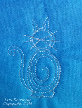 The Cool Cat, Free Motion Quilting