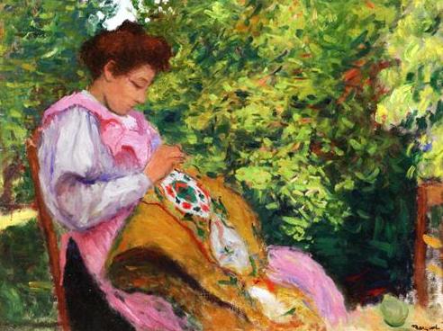 Albert Marquet, Girl Embroidering