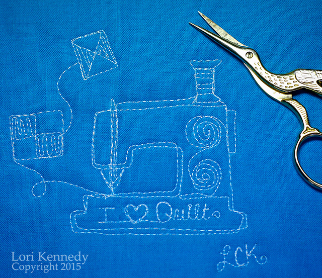 Sewing Machine Motif, Free Motion Quilting