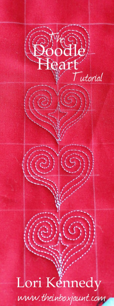 Free Motion Quilted Heart