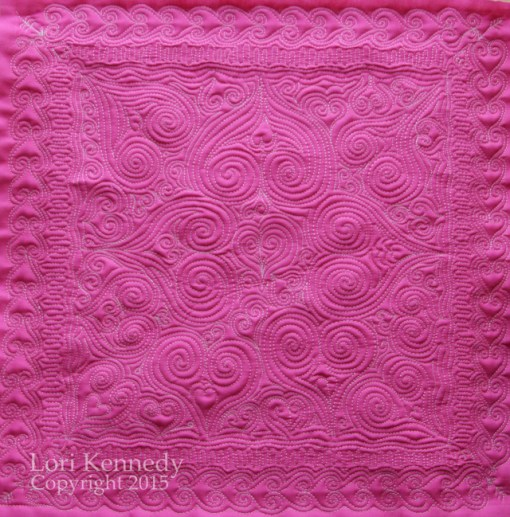 Free Motion Quilting, Hearts