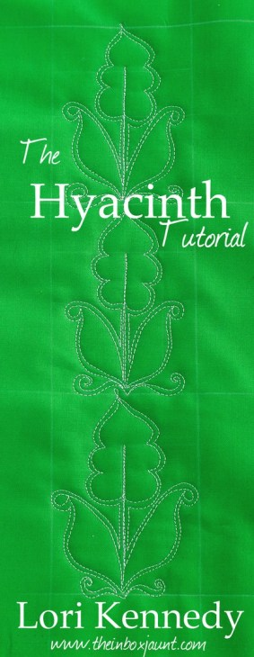 Hyacinth, Free Motion Quilting