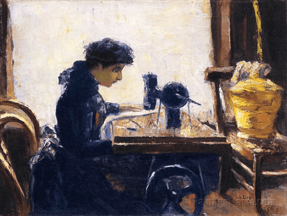 The Sewing Machine, Lesser Ury