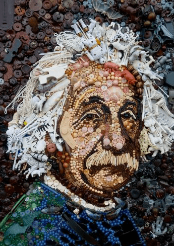 Einstein, Jane Perkins, Button Art